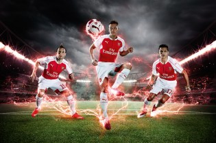 PUMA Launches Arsenal 2015/16 Home Kits