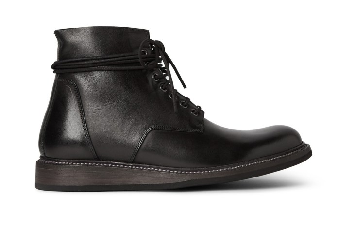 Rick Owens Leather Lace-Up Boots