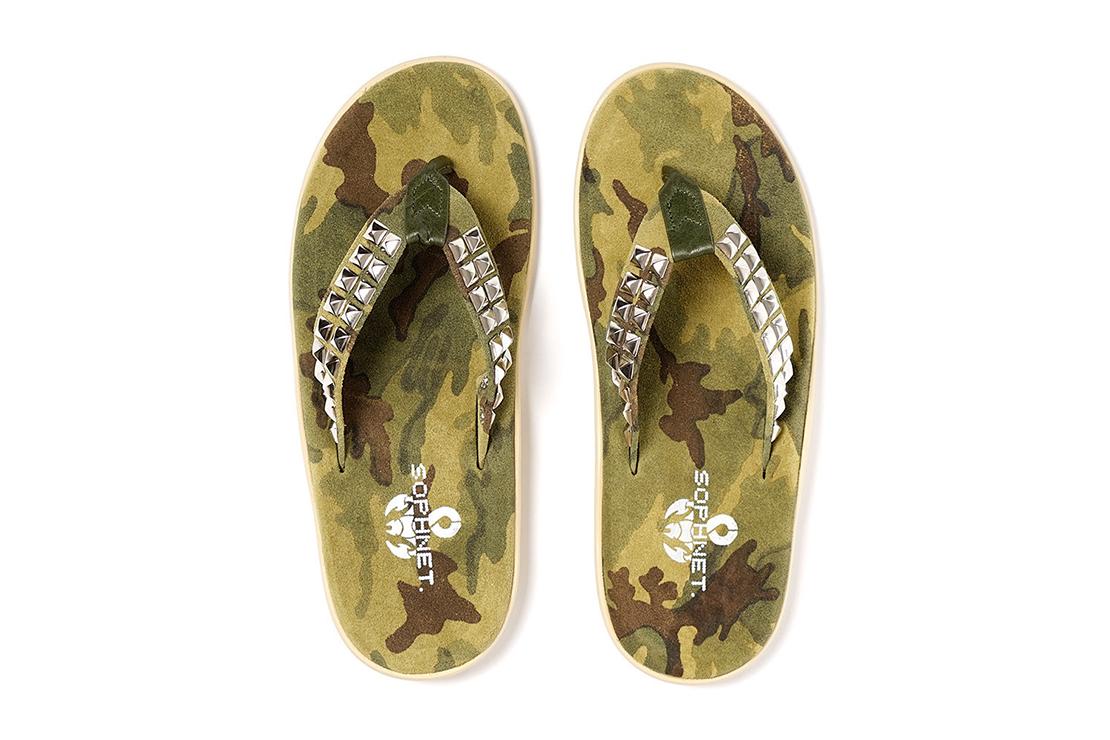 SOPHNET. x Island Slipper 2015 Spring/Summer Camouflage Studs Sandal