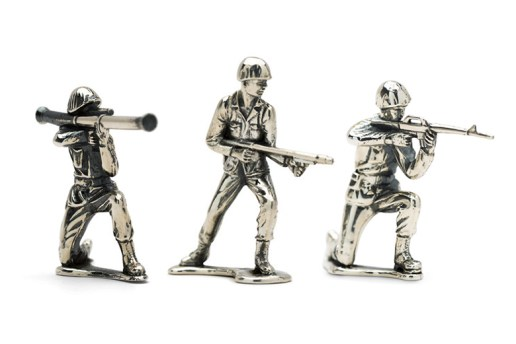 The Army Men Figurines of Your Childhood Are Now Available in Sterling Silver