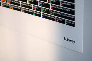 The New York Subway System by Pantone Color Print