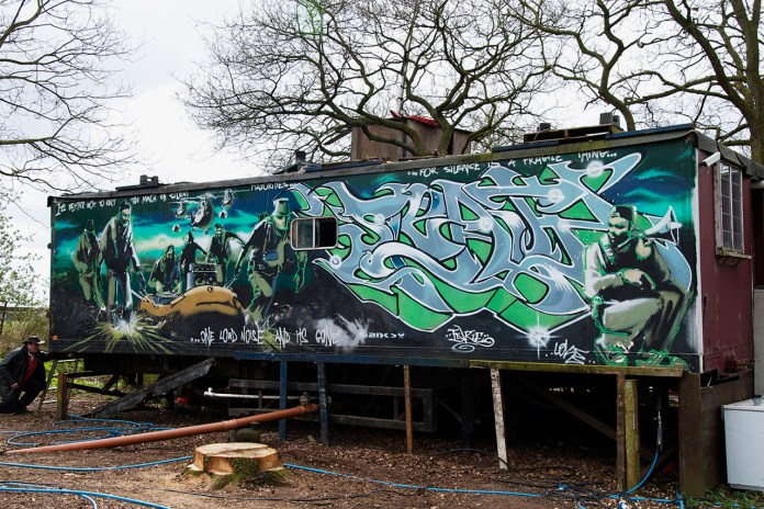 The Story Behind Banksy and Inkie's Trailer Mural Which Sold for Over $650K USD