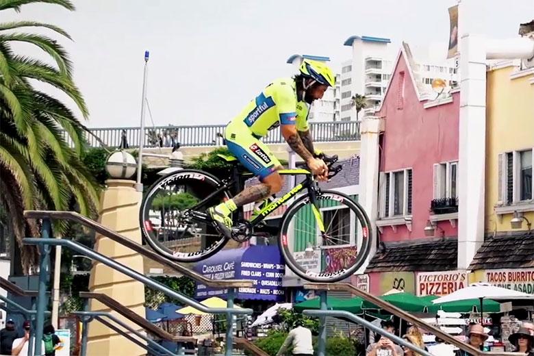 Vittorio Brumotti Stars in 'Road Bike Freestyle 2'