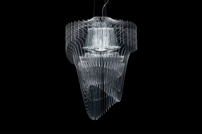 Zaha Hadid Designs the 'Aria Transparent' Chandelier for Slamp