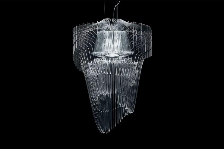 Zaha Hadid Designs the 'Aria Transparent' Chandelier for Slamp