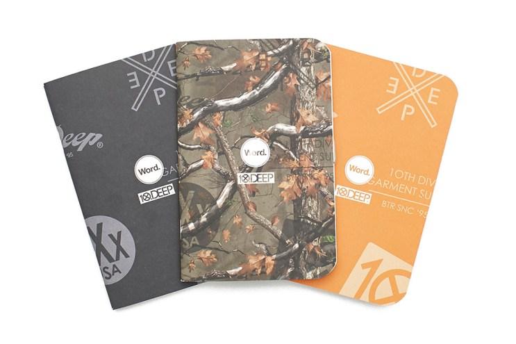 10.Deep x Word. Three Pack Notebooks
