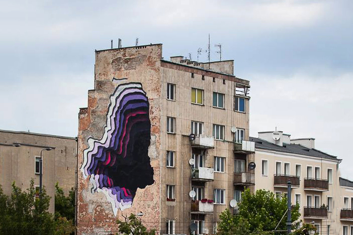 1010 Art Mural @ Street Art Doping in Warsaw