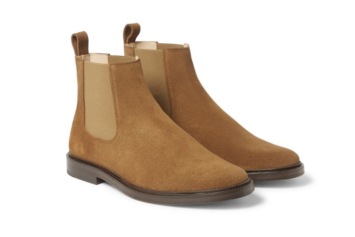 A.P.C. Suede Chelsea Boots