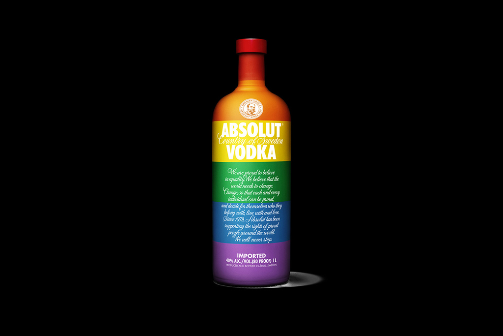 "Absolut Supports the LGBT Community With Its Limited Edition ""Colours"" Bottle"