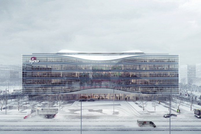 Aedas' Design for New Sina Headquarters in Beijing Inspired by Infinity Symbol