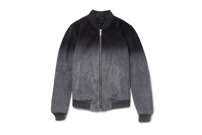 Alexander McQueen Dégradé Suede Bomber Jacket