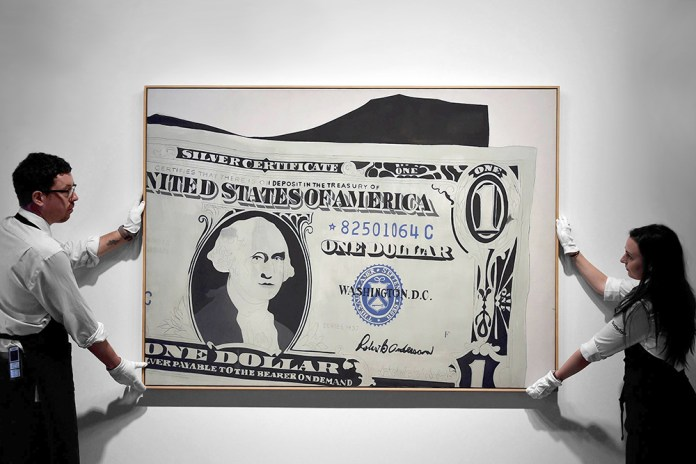 Andy Warhol's 'One Dollar Bill' Sells for $32.8 Million USD
