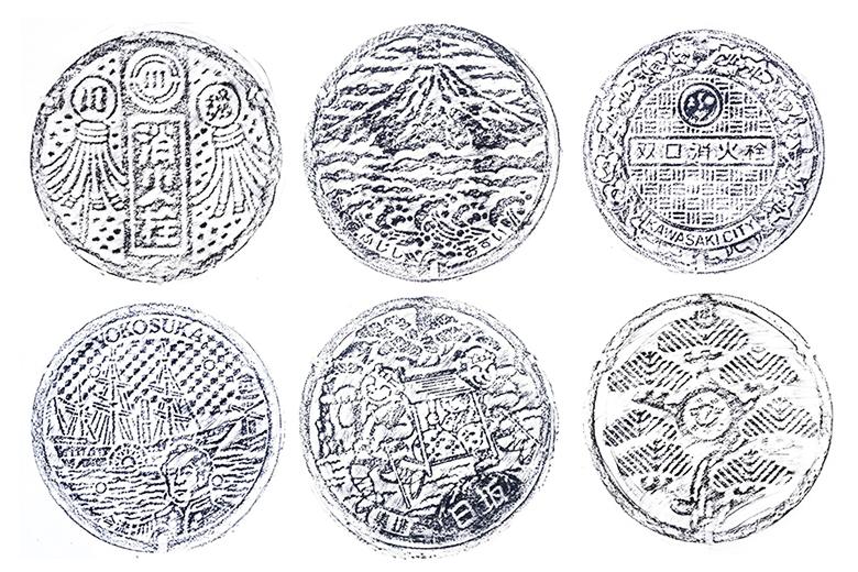 Designer David Robert Turns Japan's Manhole Covers Into Fine Art Prints