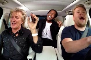 "A$AP Rocky & Rod Stewart Make a ""Carpool Karaoke"" Appearance on 'The Late Late Show with James Corden'"
