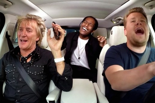 "A$AP Rocky & Rod Stewart Make a ""Carpool Karaoke"" Appearance on 'The Late Late Show with James Corden'"