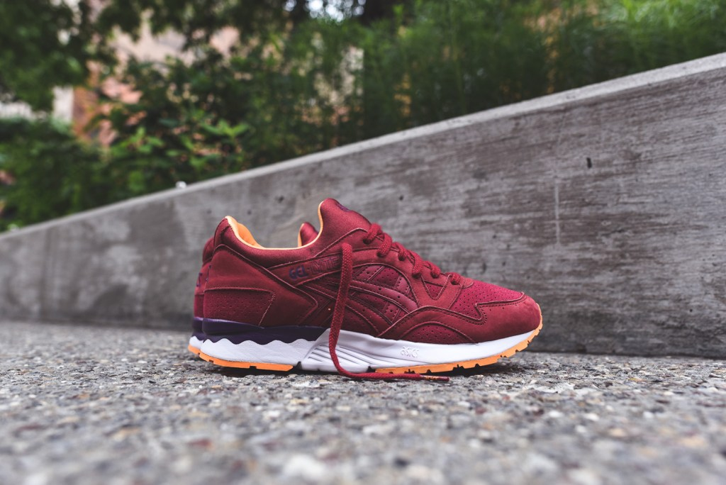 asics gel lyte v burgundy sunset hypebeast. Black Bedroom Furniture Sets. Home Design Ideas