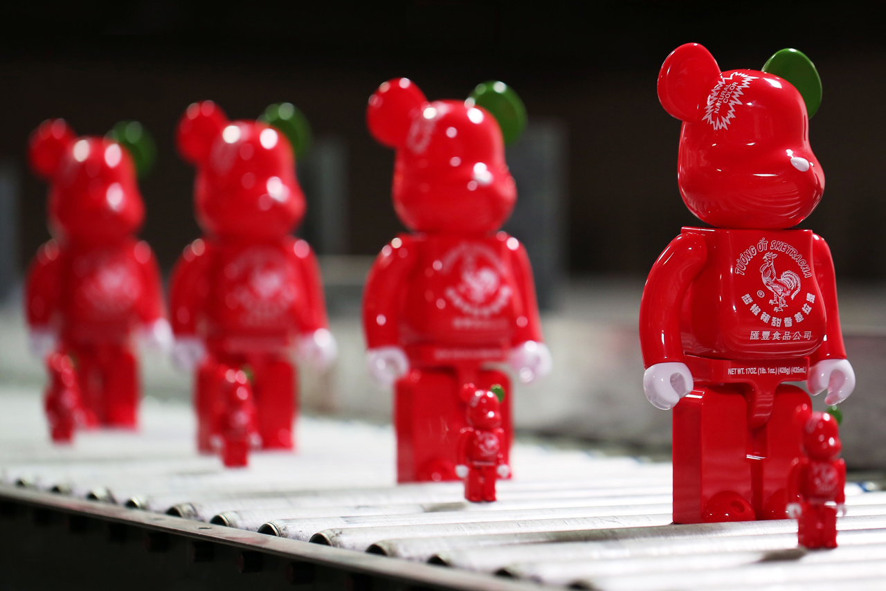 """BAIT, Medicom Toy, Sket One and Huy Fong Foods Collaborate on New """"Sriracha"""" Collection"""