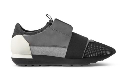 Balenciaga Mixed Media Trainer Black/White/Grey