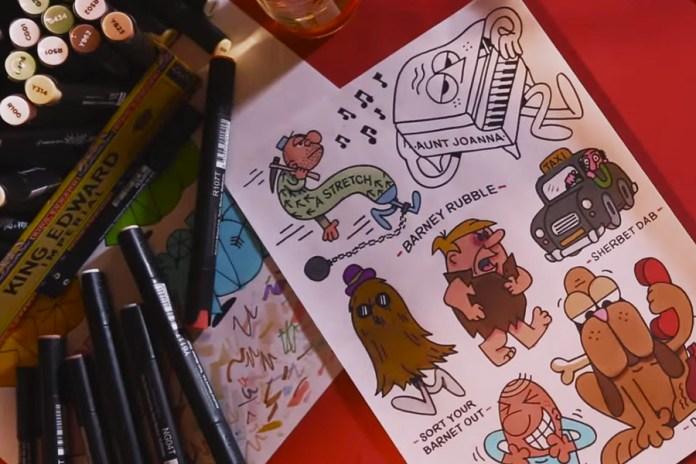 British, Cockney Slang-Inspired Illustrations by Graffiti Artist 45RPM