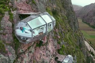 Check out the Transparent Sleep Capsules 400 Feet Above Peru's Sacred Valley