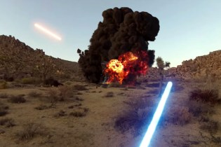 A First-Person View of a Jedi in Battle