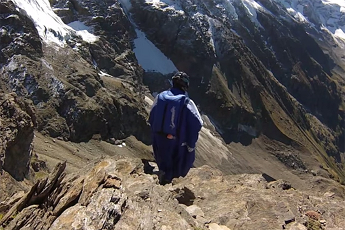 Check out This Wingsuit Glide Through a Six-Foot Keyhole
