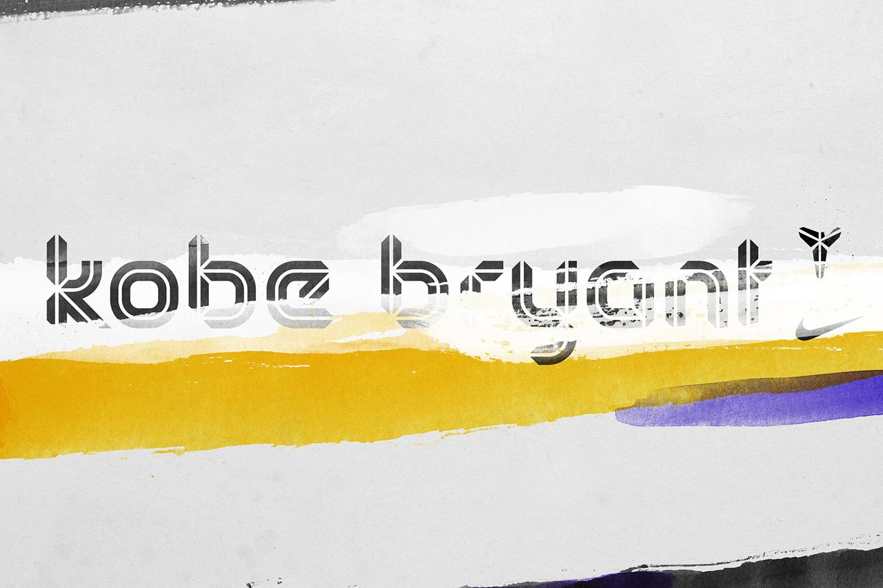 Creative Agency Designs Entire Typeface Around Kobe Bryant's Logo