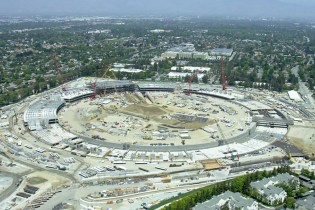 Drone Video Shows Construction Progress of Apple's Spaceship Campus