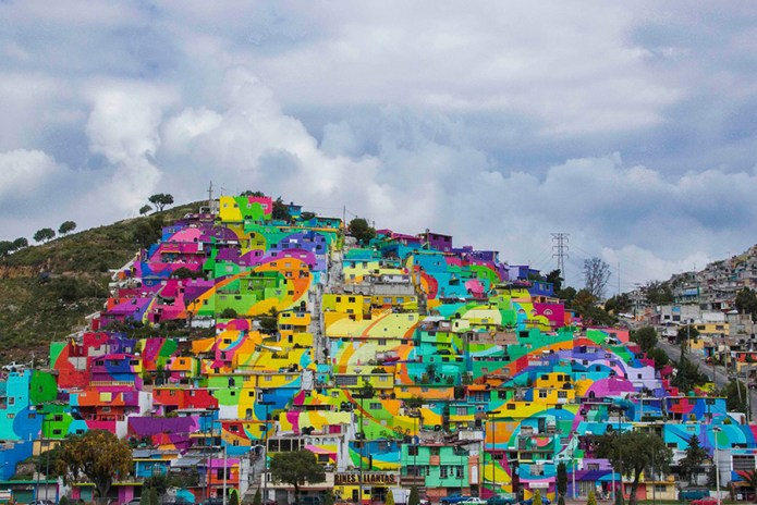 Drug Capital of Mexico Rejuvenated With Colorful Mural