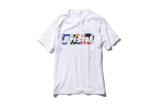 F.C.R.B. Splatter Box Logo T-Shirt