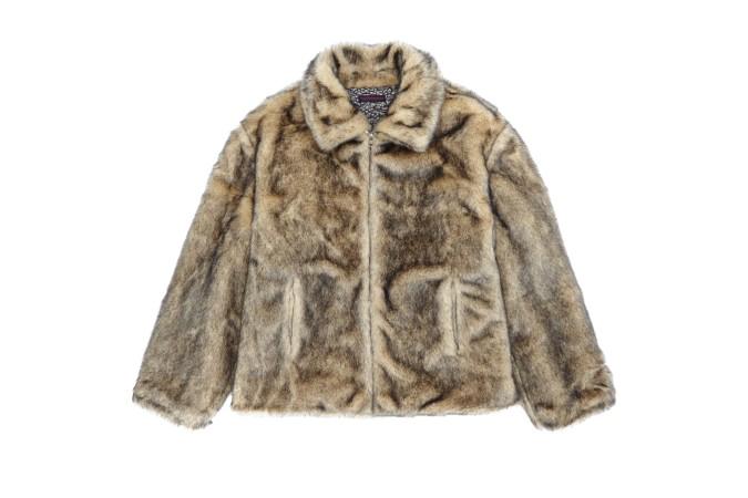 Gosha Rubchinskiy Fake Fur Jacket (Beige)