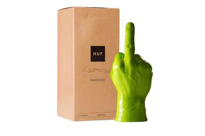 HUF x Haroshi Vinyl Middle Finger
