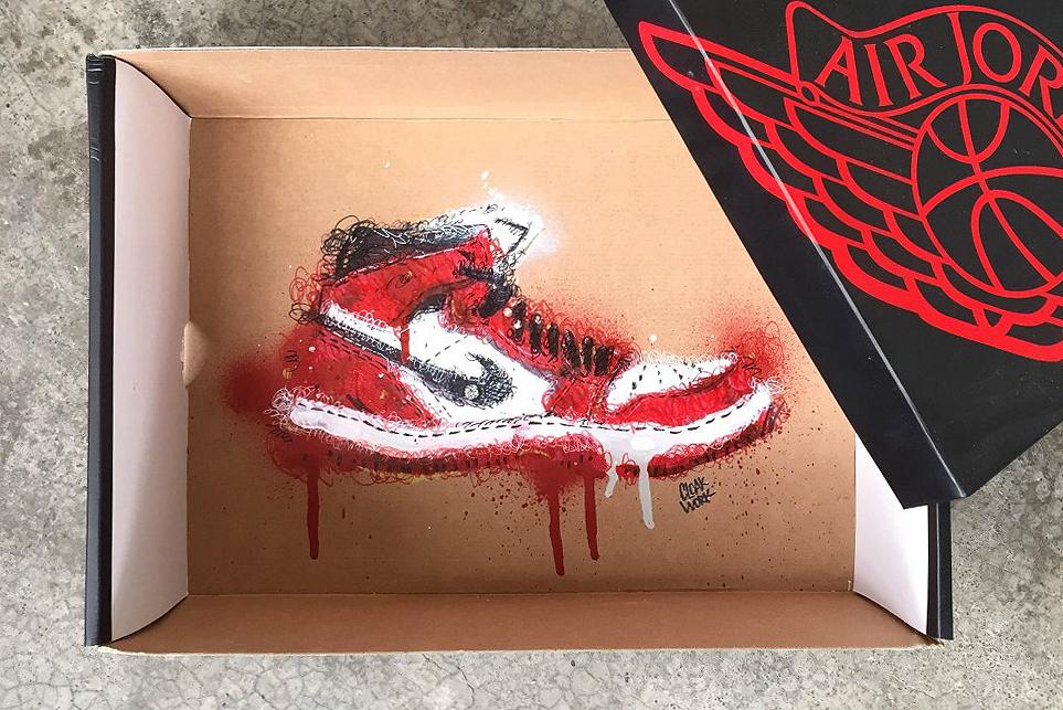 Illustrator Cloakwork Showcases His Awesome Sneaker Box Art