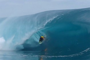Jamie O'Brien Rides a Wave While on Fire