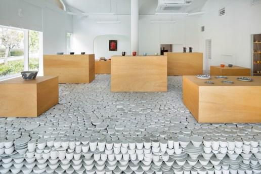 Japanese Retailer Installs 25,000 Piece Pottery Installation