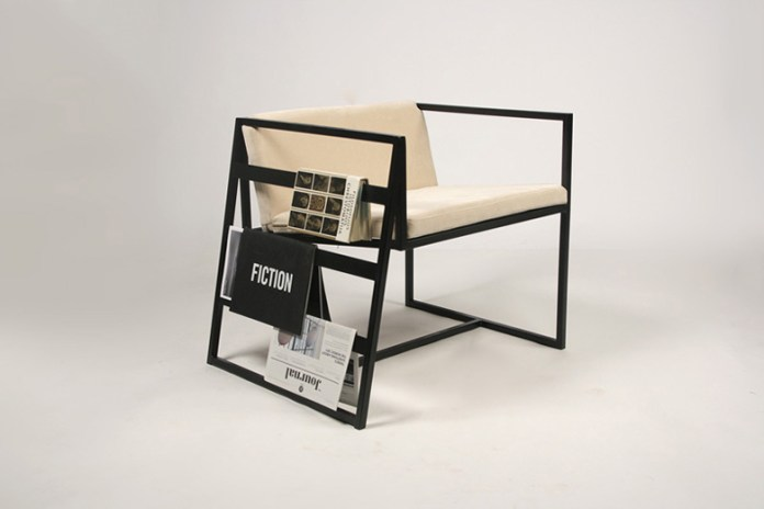 Lukas Avena's Armchair Has Built-In Storage for Literature
