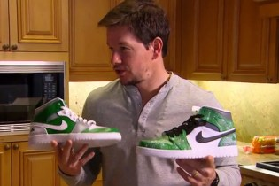 Mark Wahlberg Gets a Custom Pair of Bright Green Air Jordan 1s