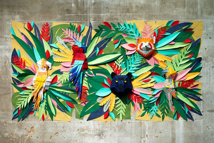 Mlle Hipolyte Recreates a Tropical Jungle With Hand-Cut Paper