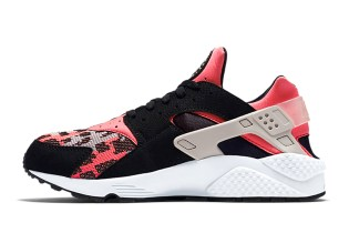 Nike Air Huarache Hyper Pink/Wolf Grey-Black