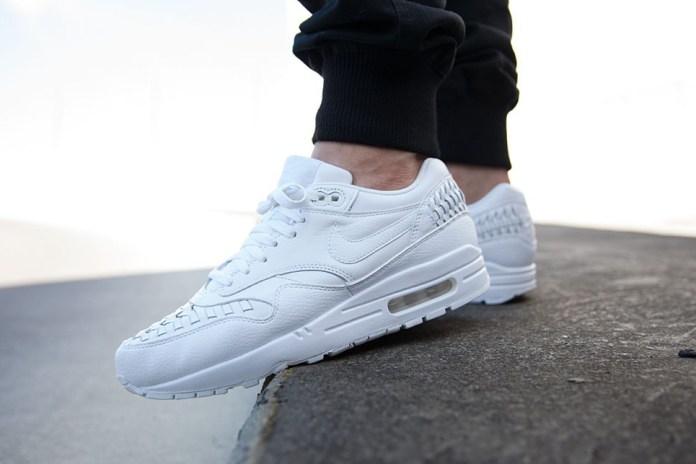 """Nike Air Max 1 Woven """"Triple White"""""""