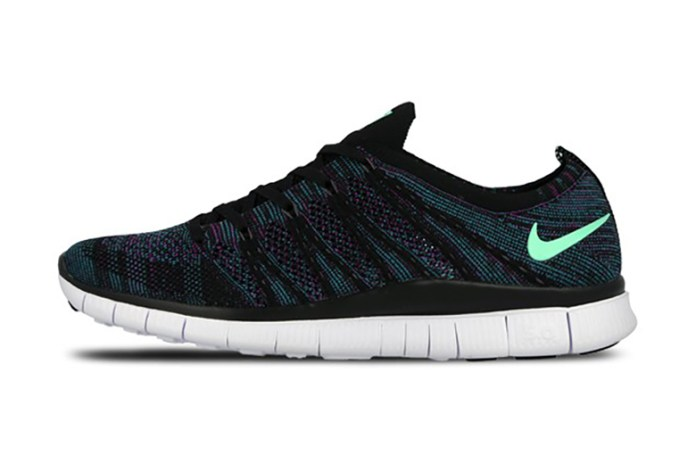 Nike Free Flyknit NSW Black/Green Glow-Radiant Emerald-Vivid Purple