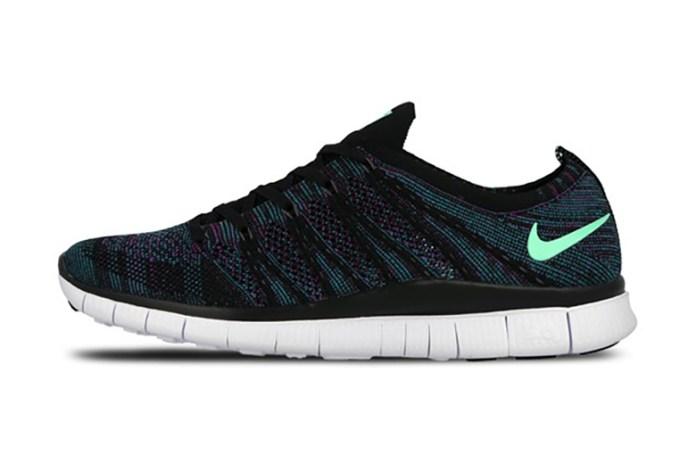 Nike Free Flyknit NSW Black/Green Glow-Radiant Emerald-Vivid Purple