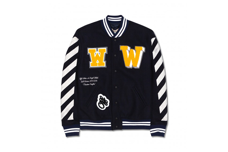 OFF-WHITE c/o VIRGIL ABLOH 2015 Fall/Winter Letterman Jacket With Patches