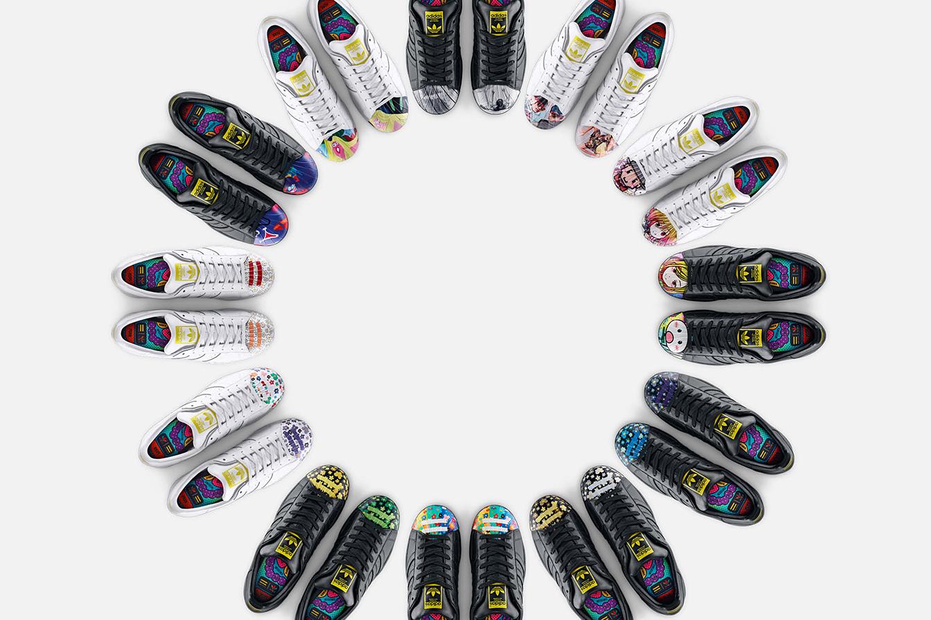 "Pharrell Williams x Todd James x Zaha Hadid x Mr. x Cass Bird x adidas Originals Supershell ""Artwork"" Collection"