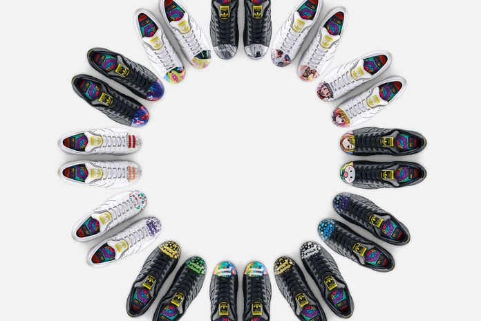 "Pharrell Williams x Todd James x Zaha Hadid x Mr. x Cass Bird x adidas Originals Supershell ""Artwork"" Collection"