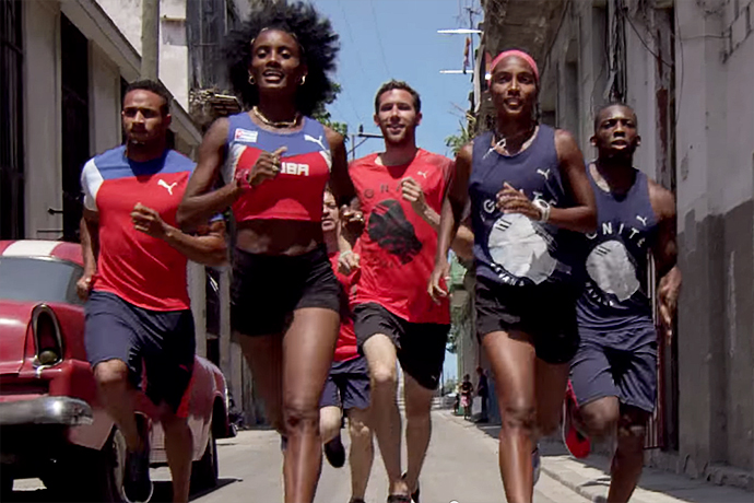 PUMA Sends Cuban & American Sprinters on a Colorful Dash Through Havana