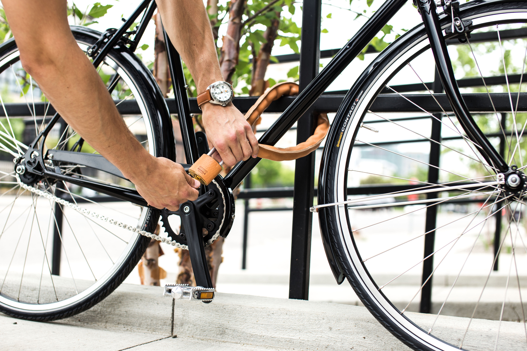 Shinola x Map of Days Leather-Covered Bike Chain