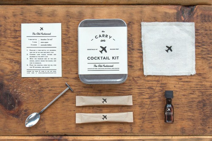 The Carry On Cocktail Kit Allows You to Have Your Favorite Drink in the Air