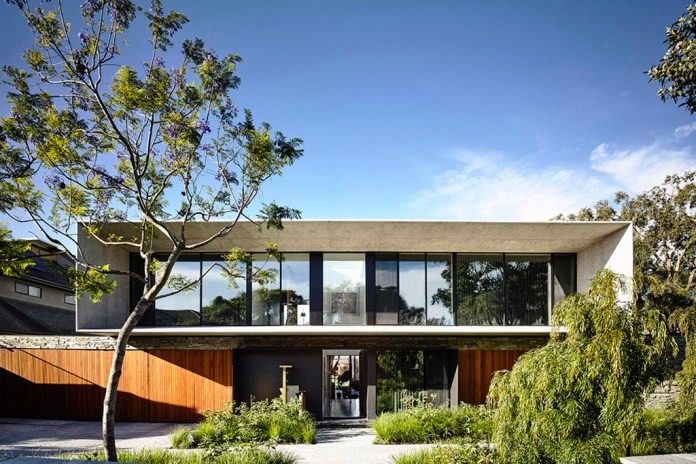 The Concrete House in Melbourne by Matt Gibson Architecture