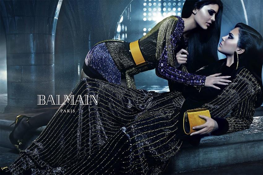 The Jenner Sisters Headline Balmain's 2015 Fall Campaign